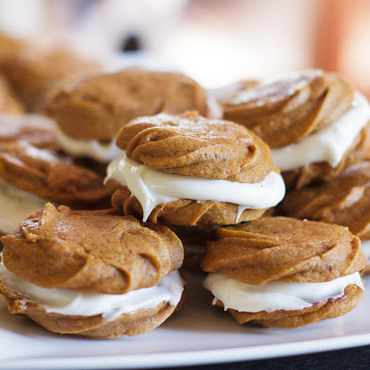 Pumpkin Cookies with Cream Cheese