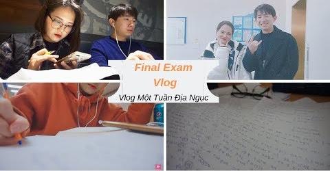 Du Học Sinh Hàn Quốc Trong Kì Thi Cuối Kì | Final Exam Vlog l Sunny's Colour