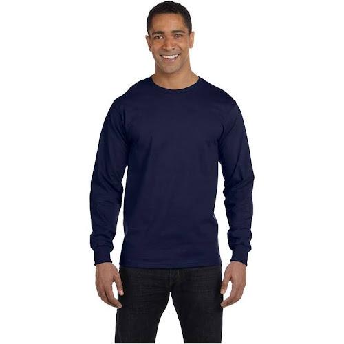 e2555730ca Hanes Men's ComfortSoft Long Sleeve T-Shirt, Navy Blue, L - Google ...