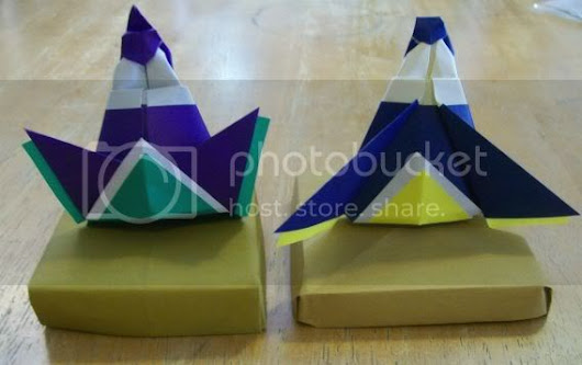 Karen's origami hina dolls instructions