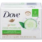 Dove go fresh Beauty Bar Cucumber and Green Tea - 2 count, 4 oz each