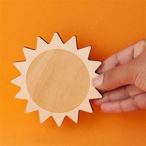 Unfinished Wood Sun Cutout   Wood Cutouts   Wood Crafts