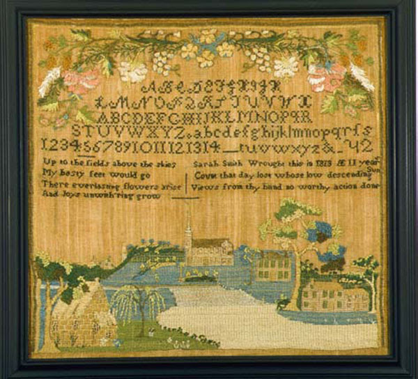 Sarah Smith antique sampler from Carol & Stephen Huber