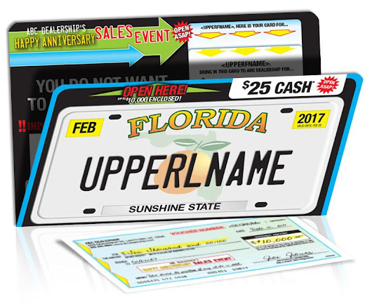 License Plate, Punch-Out Card & Voucher Package: A New Approach to Increase ROI - PrimeNet Direct Marketing Solutions