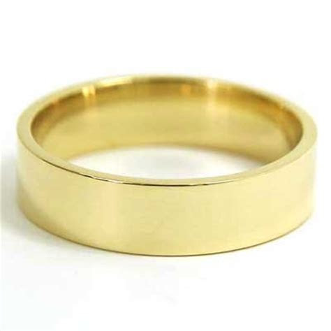 5mm Flat Wedding Band 10k Yellow Gold