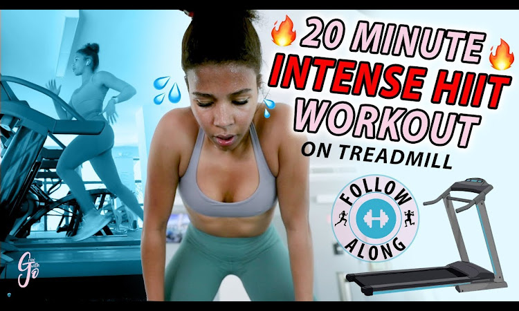 Easiest way to Burn 1000 calories! | 20 MINUTE INTENSE HIIT TREADMILL WO...