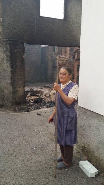 Laura, de 75 años, este lunes en Figueira.