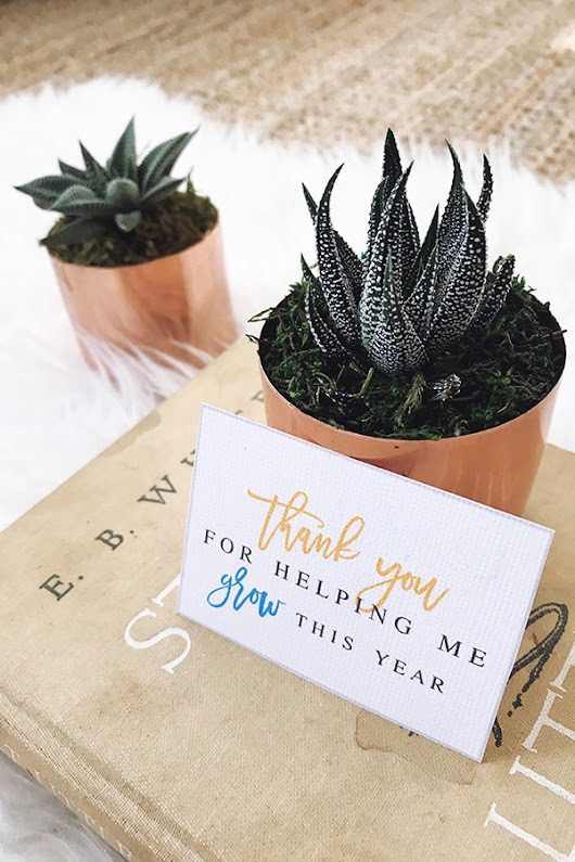 Thanks For Helping Me Grow Teacher Gift Idea | Atkinson Drive