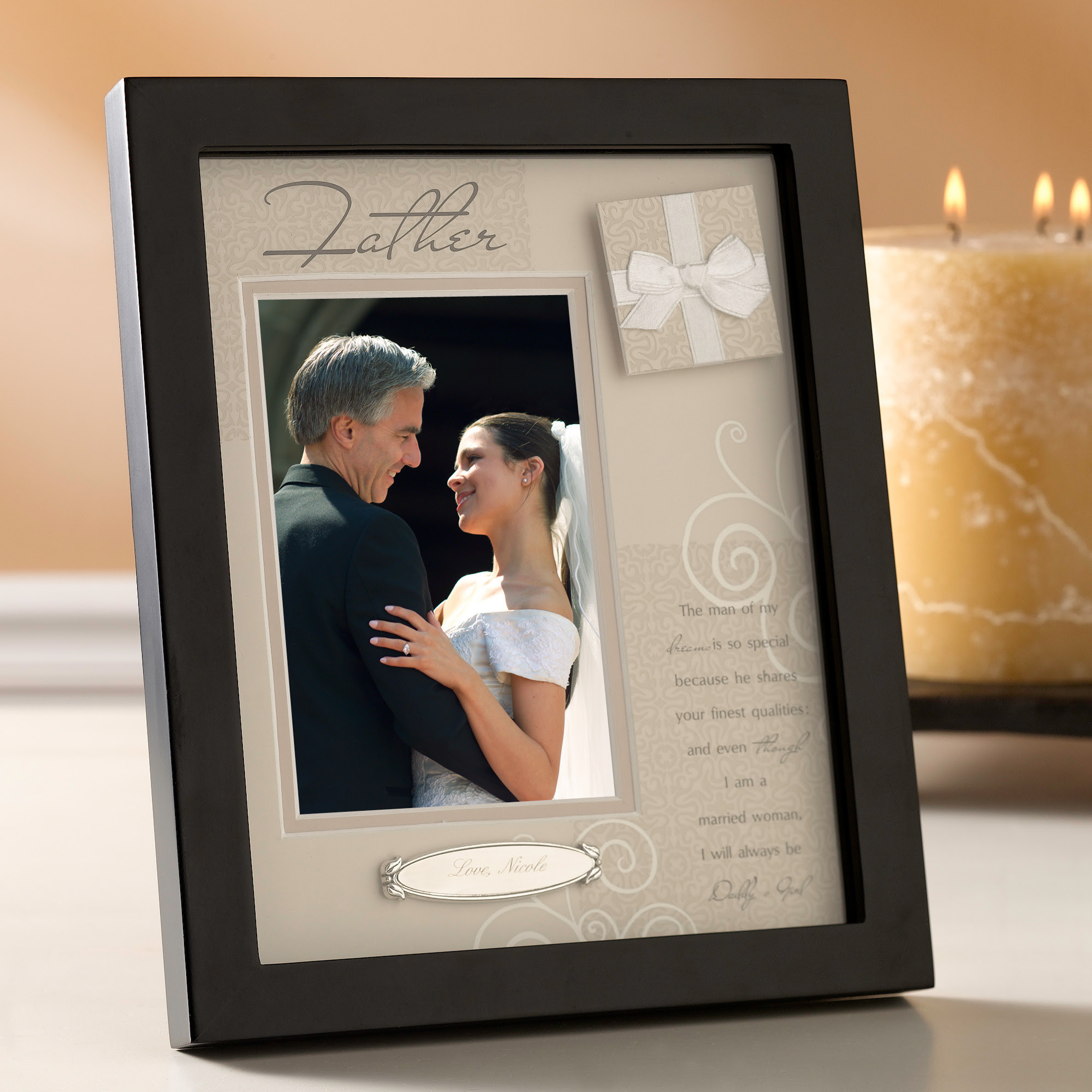 Father Of The Bride Picture Frame Picture Frame Ideas