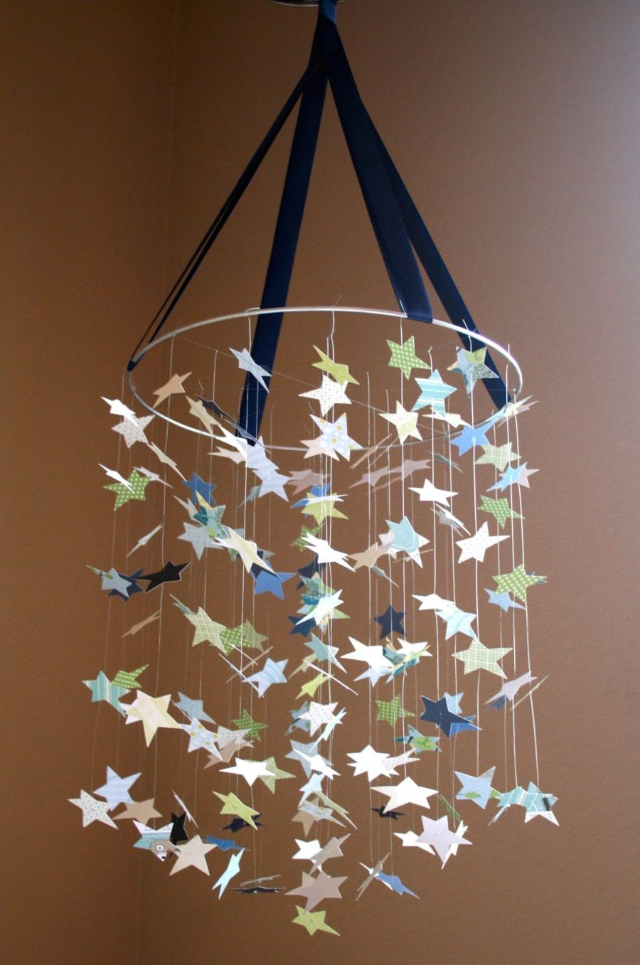 Baby Blue Star Mobile KIT-DIY-Great Craft Project