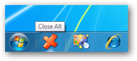 Close All Aplications en la Superbar de Windows 7