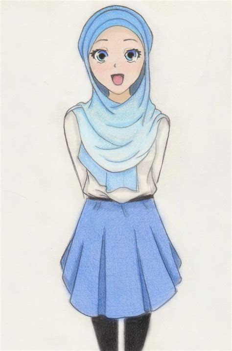 muslim manga  anime drawings islamicartdbcom