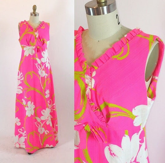 Vintage 1960s Hawaiian Dress  Liberty House by RetroThreadzVintage