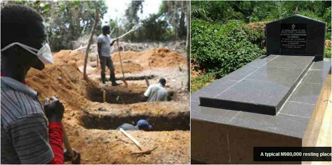 TWENTY-NINE YEAR OLD MAN DIGGING AN OLD WOMAN GRAVE IN ENUGU AND THIS SUDDENLY HAPPENED  **** PHOTOS****