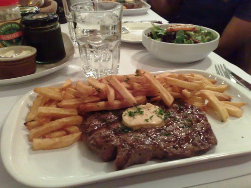 Grilled Rib Eye Steak with Vigneron Butter