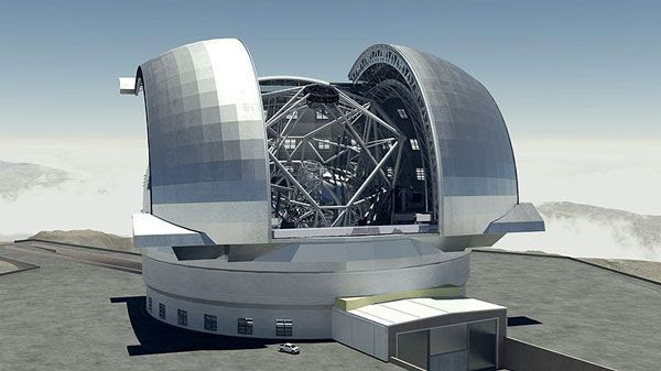 A computer-generated art concept of the European Southern Observatory's (ESO) Extremely Large Telescope.