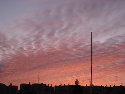 Red sky over Gilo