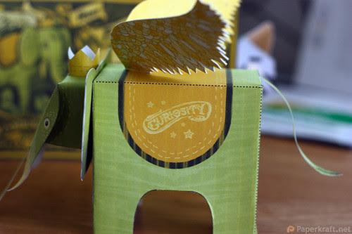Winged Elephant Papercraft 05