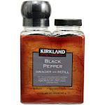 Kirkland Signature Black Pepper with Grinder, 6.3 oz, 2-count