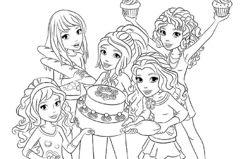 Lego Friends Drawing At Getdrawingscom Free For Personal Use Lego
