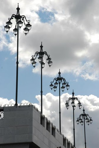 Lamps and clouds