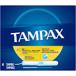 Tampax Regular Unscented Cardboard Tampons 40 ct Box