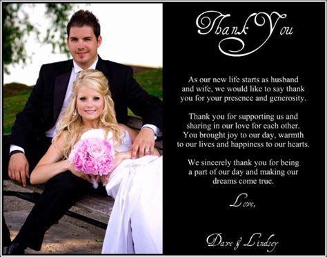 wedding thank you note wording   B&C WeddingInvitations