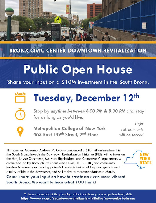 Public Open House - Bronx Civic Center Downtown Revitalization - MCNY
