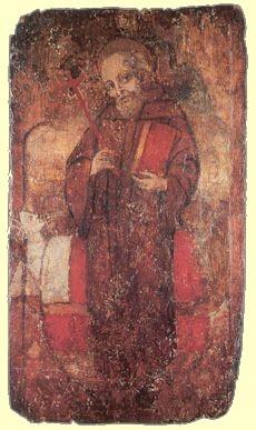 Wandbild im Kloster in Montefano bei Fabriano