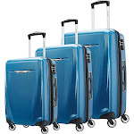 Samsonite Winfield 3 DLX 3 Piece Set (Spinner 20/25/28), Blue/Navy by Luggage Pros