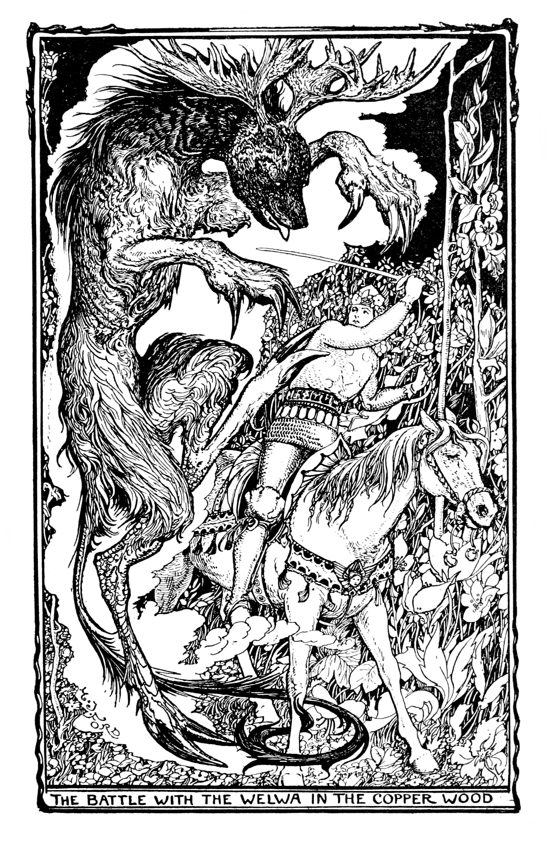 Henry Justice Ford - The violet fairy book, edited by Andrew Lang, 1906 (illustration 10)