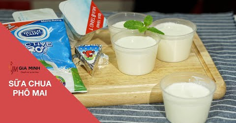 Cách làm sữa chua phô mai ngon như ngoài hàng