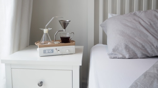 This Alarm Clock Wakes You Up with a Fresh Cup of Coffee | Nerdist