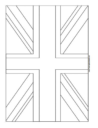 Bandera De Reino Unido Para Colorear Para Imprimir Gratis