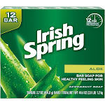 Irish Spring Aloe Vera Men's Bar Soap - 3.7oz/12pk