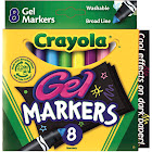 Crayola Washable Gel Markers - 8 pack