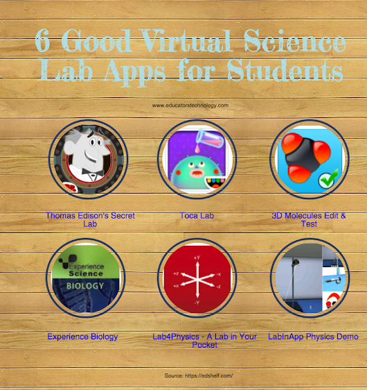 Turn Your Class Into A Virtual Science Lab With These Apps | Educational Technology and Mobile Learning