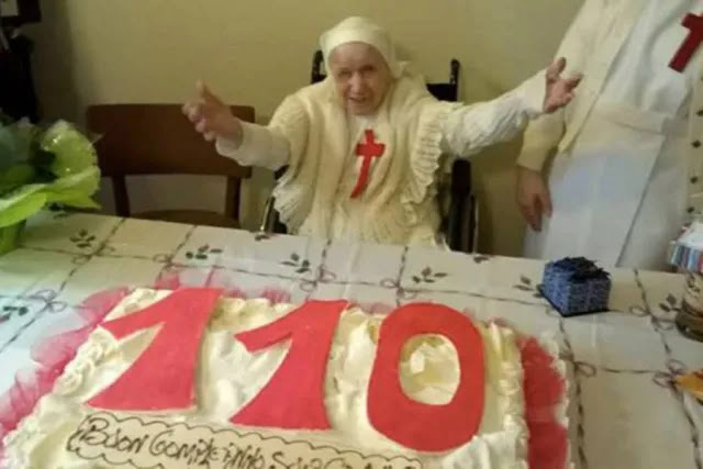 Sister Candida Bellotti celebrates her 110th birthday. Credit: Congregation of St. Camillus of Lellis.