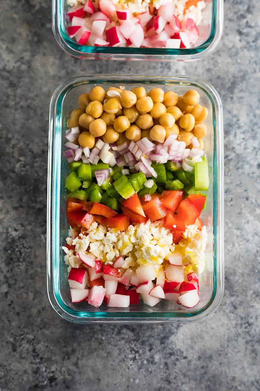 Meal Prep Chopped Chickpea Salad | Sweet Peas and Saffron