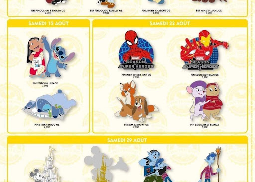 Avatar of August 2020 Pin Trading Releases Revealed for Disneyland Paris