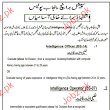 Intelligence Officer, Intelligence Operators Job Punjab Poli 2015 Jobs Pakistan Jobz.pk