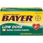 Bayer Aspirin Regimen Bayer Low Dose Safety Coated Aspirin 81mg, 200 ct