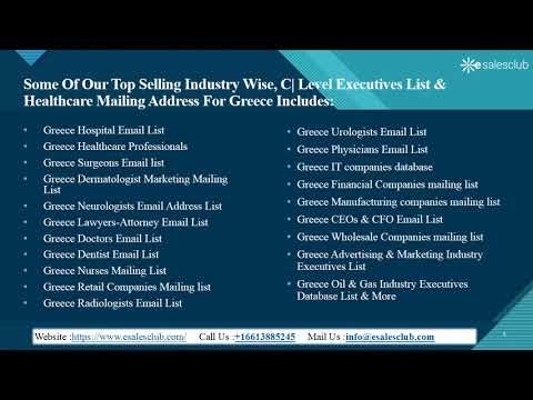 Trending Greece Business Email List | Greece Business Mailing List