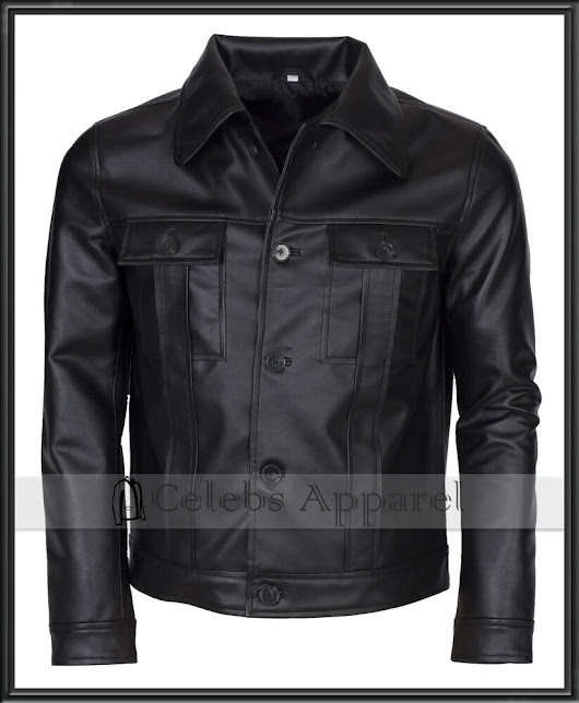 Elvis Presley King Of Rock Celebrity Vintage Mens Black Leather Jacket | eBay