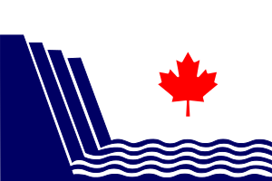 The flag of Scarborough, Ontario, drawn in SVG.
