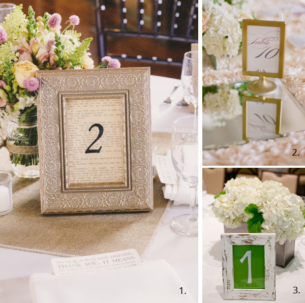 Wedding Table Numbers In Frames Uk Wedding Styling Decor Blog