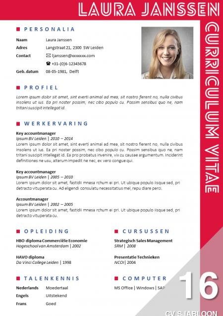 Onderscheidend solliciteren met een opvallend CV sjabloon