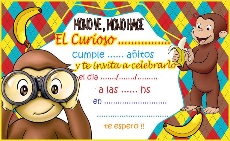 Tarjetas De Cumpleaños Jorge El Curioso