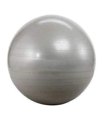 New Yoga Swiss Ball Aerobic Pregnancy Fitness Gym Birthing Anti Burst Pump 85cm (Silver)
