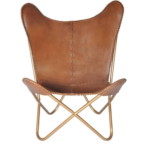 e117d77625ed Google Express - Pine Canopy Midewin Chestnut Leather Butterfly Chair